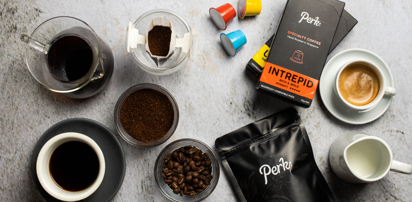 Perk Coffee Full Range Products